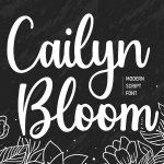 Cailyn Bloom Modern Script Font
