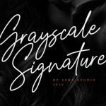 Grayscale Signature Font