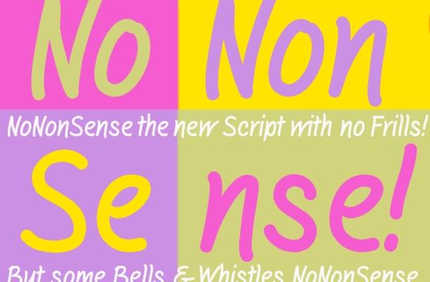 NoNonSense Font