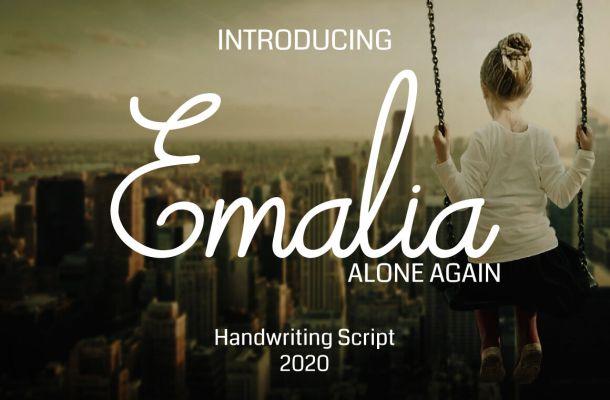 Emalia Handwriting Srcipt Font