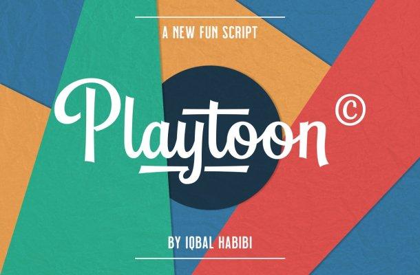 Playtoon – Fun Script Font