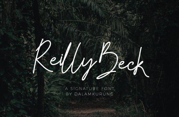 Reilly Beck Signature Font