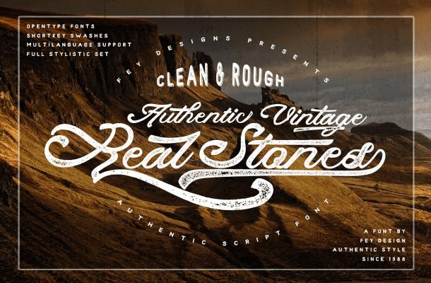 Real Stones Script Font
