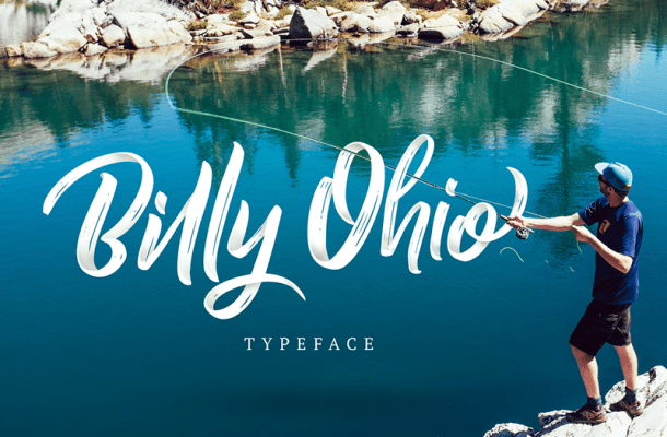 Billy Ohio Brush Font
