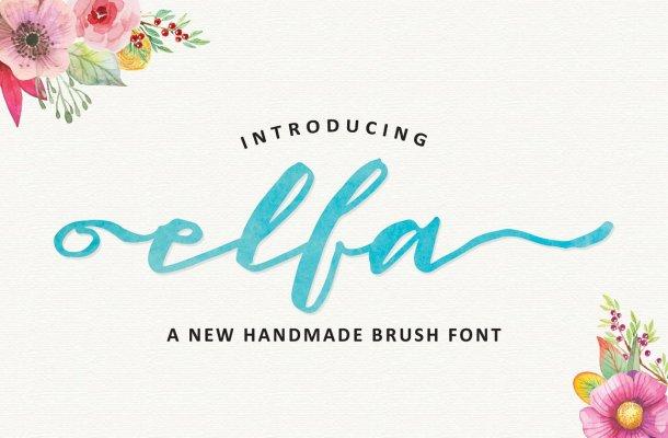 Elfa Brush Font