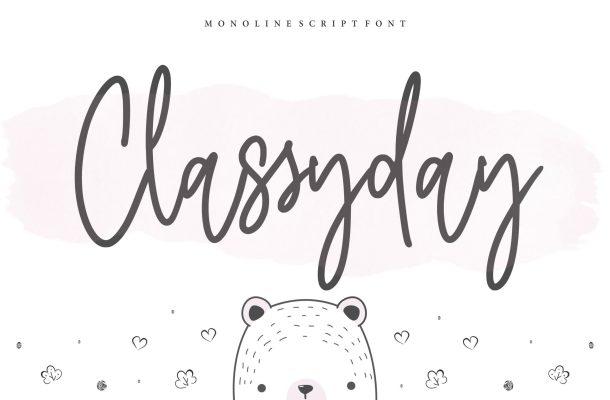 Classyday Font