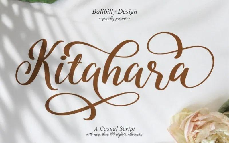 kitahara-script-font-4
