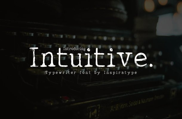 Intuitive Typewriter Display Font
