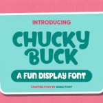 Chucky Buck Fun Display Font