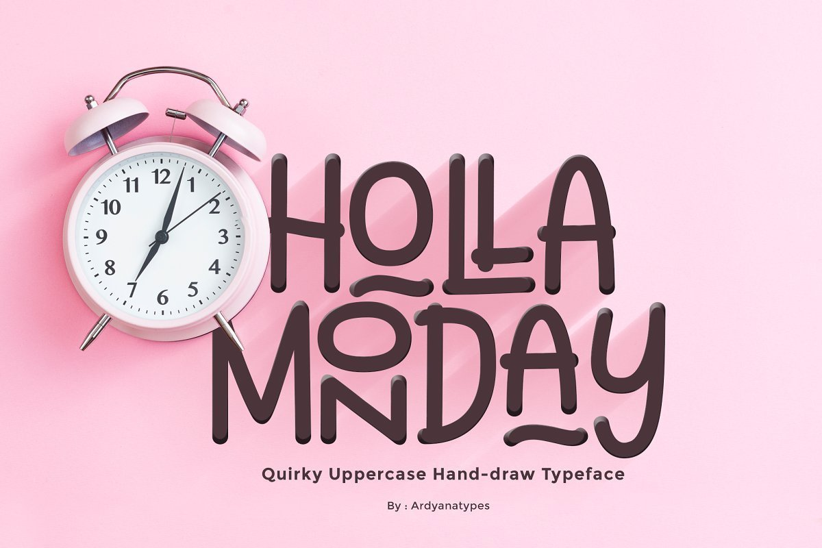 Holla-Monday-Display-Font-1