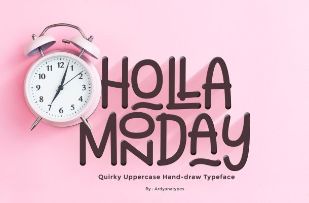 Holla Monday Display Font
