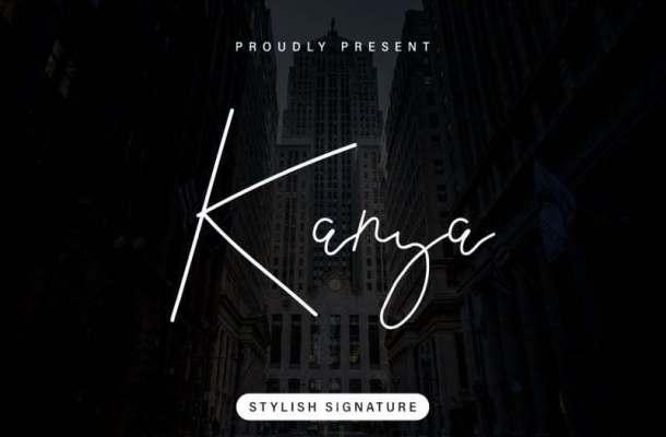 Kanya Signature Font