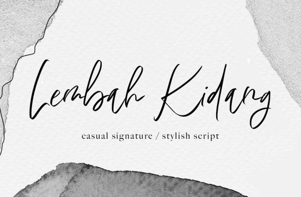 Lembah Kidang Signature Font