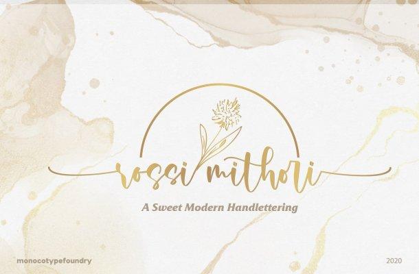 Rossi Mithori Calligraphy Script Font