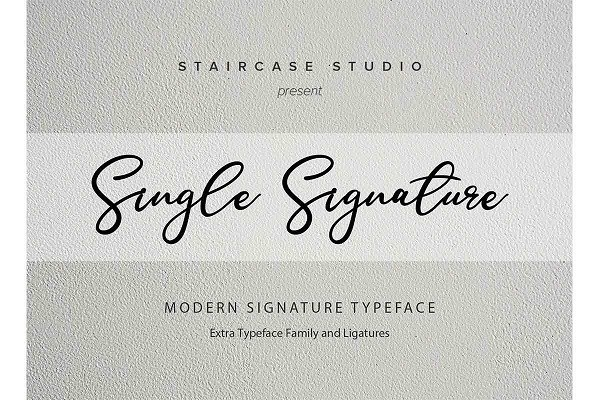 Single-Signature-Font