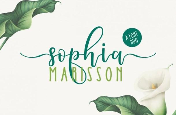 Sophia Marisson Calligraphy Font