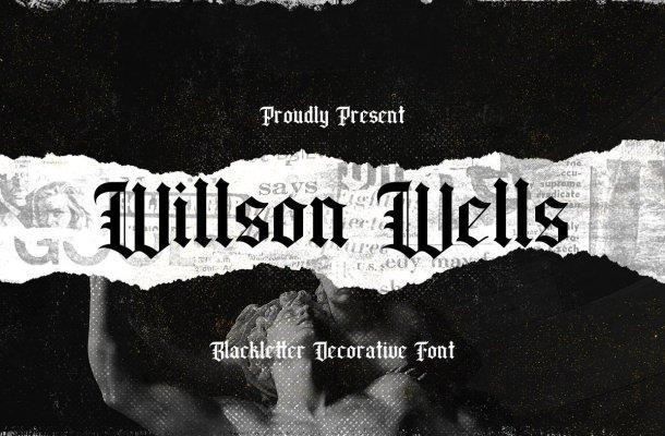 Wilson Wells Blackletter Font