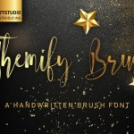Themify Brush Script Font