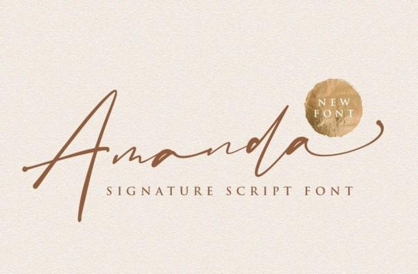 Amanda Signature Script Font