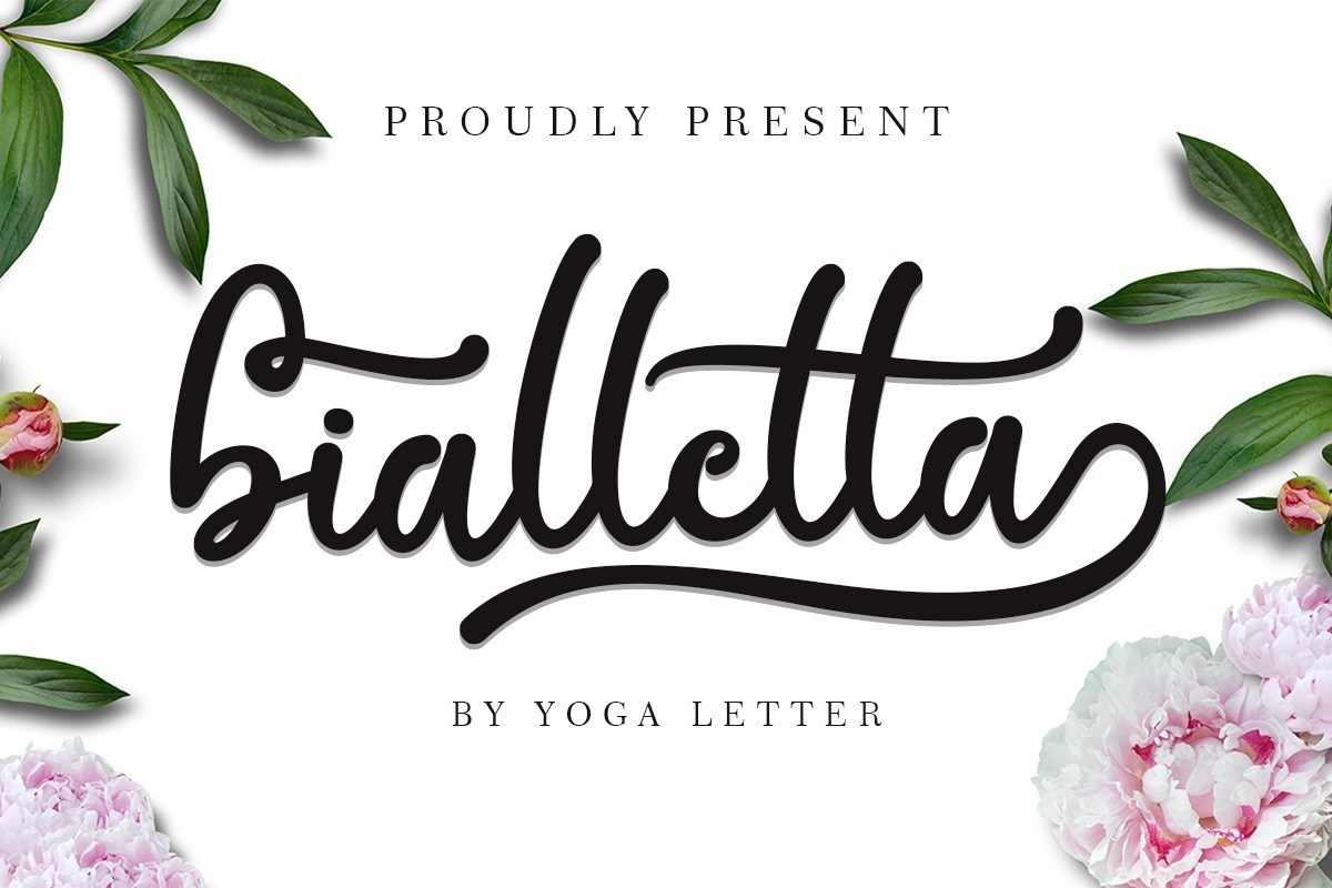 Bialletta bold calligraphy script font has a classy, elegant, and modern look, every single letters have been carefully crafted to make your text looks beautiful. With modern script style this font will perfect for many different project ex: quotes, blog header, poster, wedding, branding, logo, fashion, apparel, letter, invitation, stationery, etc.  This font is free for PERSONAL USE. Link to purchase full version and commercial license: HERE  Bialletta Bold Calligraphy Script Font