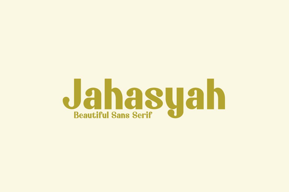 Jahasyah-Sans-Serif-Font-1