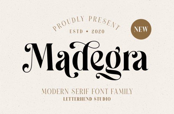 Madegra Modern Serif Font