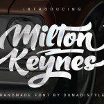 Milton Keynes Bold Script Font