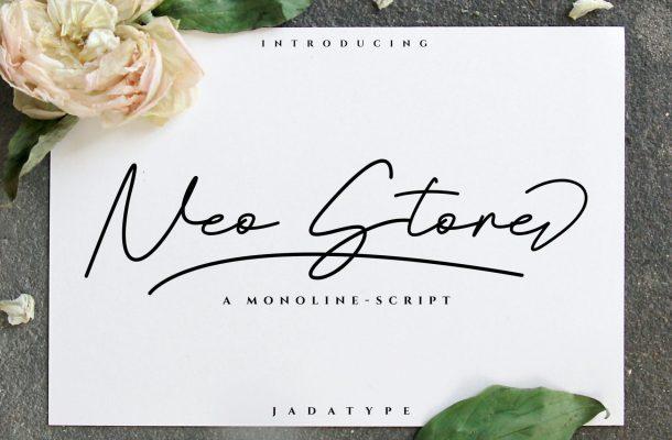 Neo Stone Signature Font