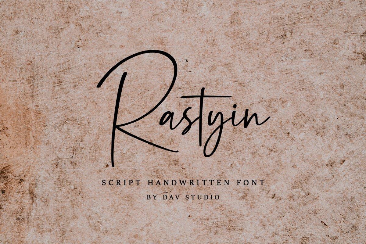 Rastyin-Handwritten-Script-Font-1