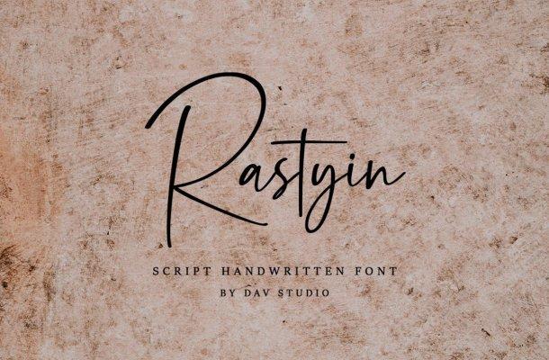 Rastyin Handwritten Script Font