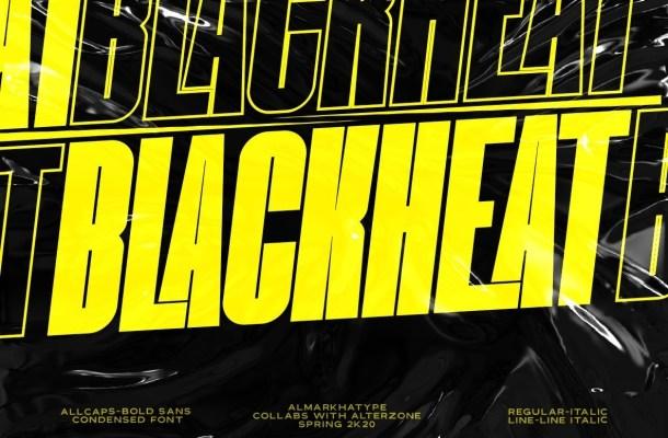 Blackheat Bold Sans Serif Font