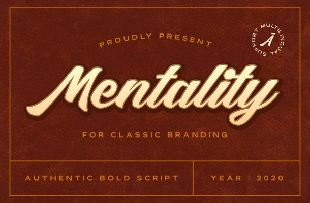 MENTALITY AUTHENTIC BOLD SCRIPT