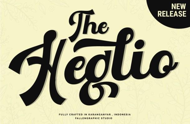 The Heglio Script Font