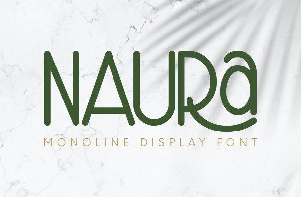 Naura Monoline Display Font