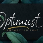 Optimust Handwritten Brush Font