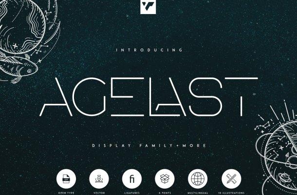 Agelast Display Family Font