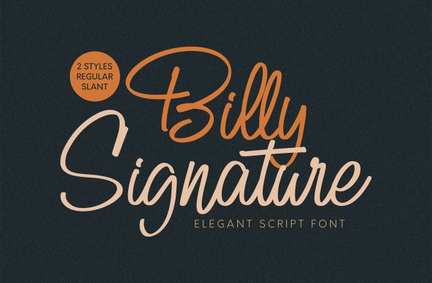 Billy Signature Font