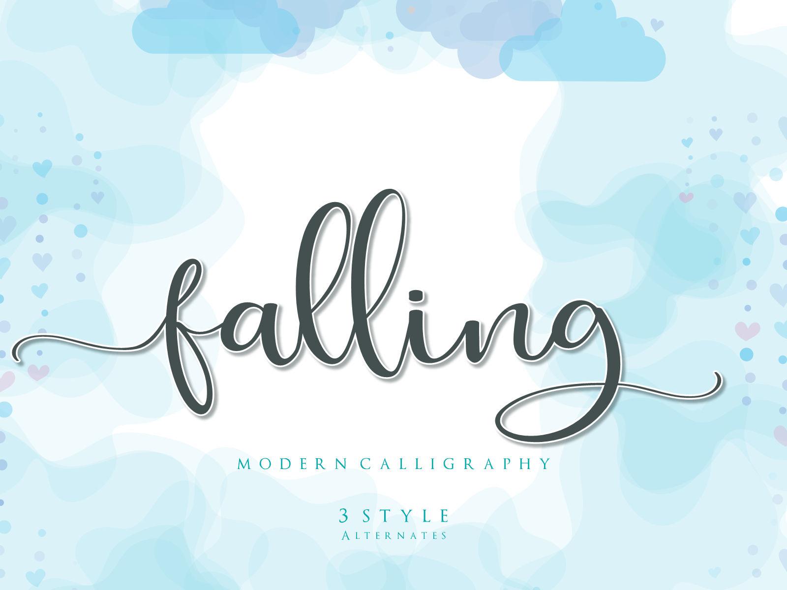 Falling-Modern-Calligraphy-Font-1