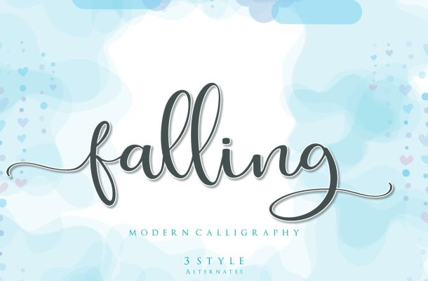 Falling Modern Calligraphy Font