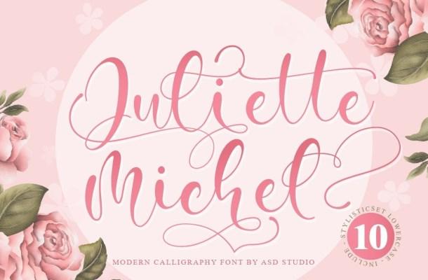 Juliette Michel Modern Calligraphy Font