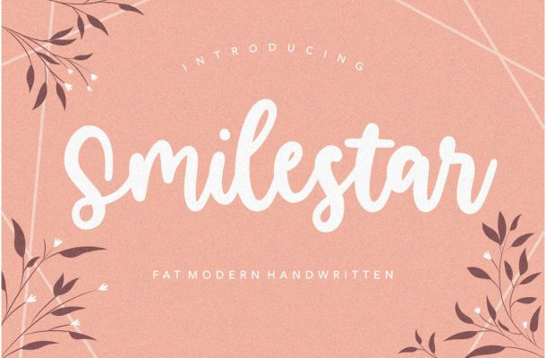 Smilestar Bold Handwritten Font