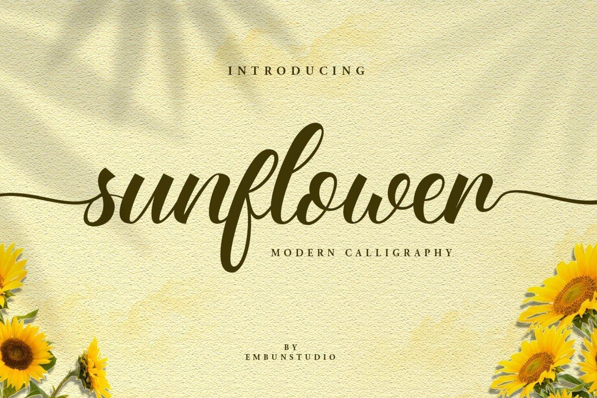 Sunflower-Fields-Calligraphy-Font-1