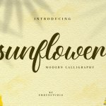 Sunflower Fields Calligraphy Font