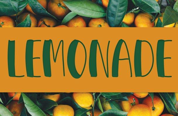Lemonade Display Font