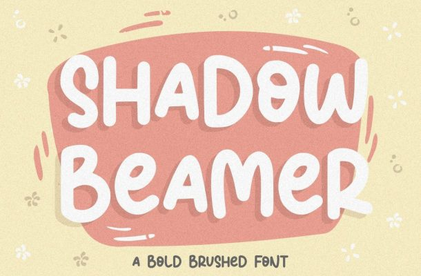 Shadow Beamer Bold Brushed Font