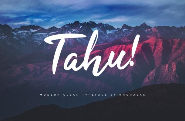 Tahu Free Script Font