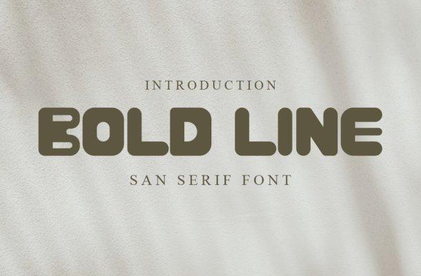 BOLD LINE Font
