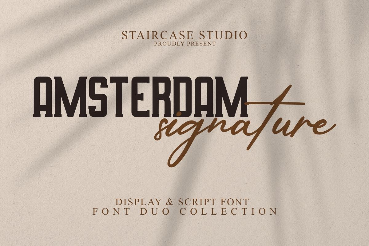 Amsterdam-Signature-Font
