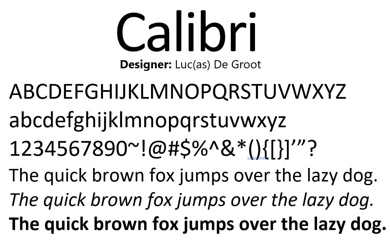 Calibri-Font-2