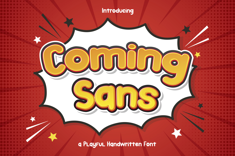 Coming-Sans-Font